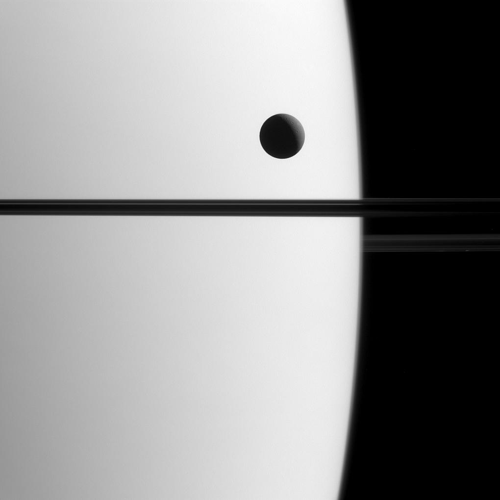 Dione Transit of Saturn