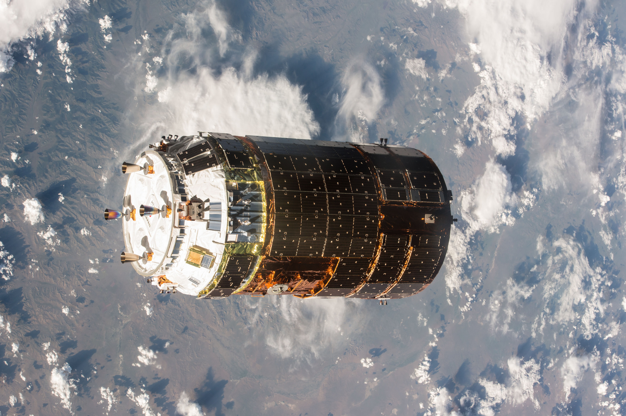 One-Year Space Mission: JAXA HTV-5 Final Approach Toward ISS