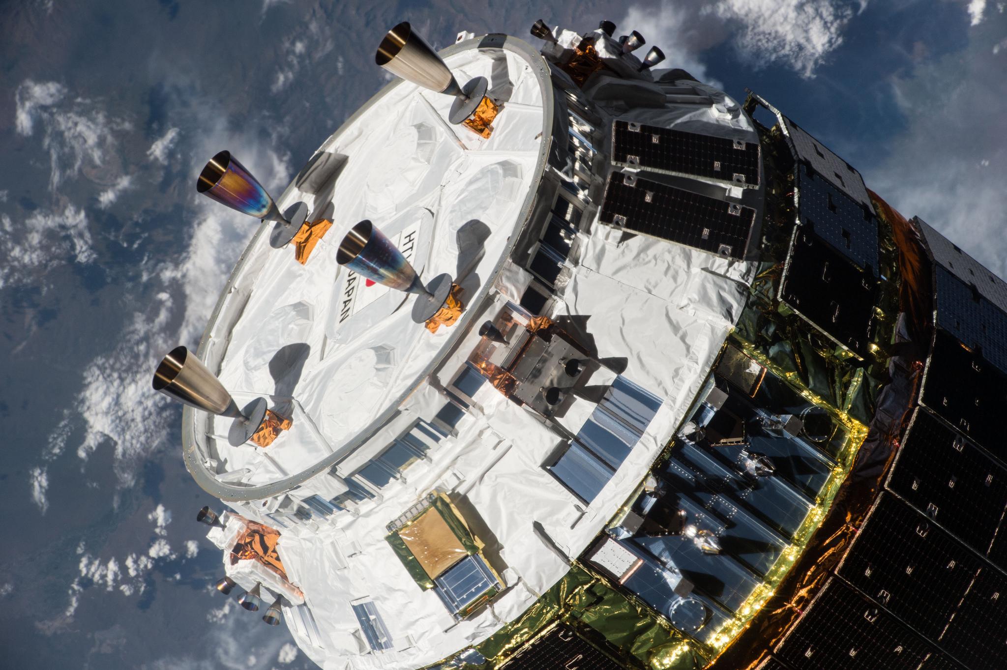 JAXA HTV-5 Final Approach Close-Up