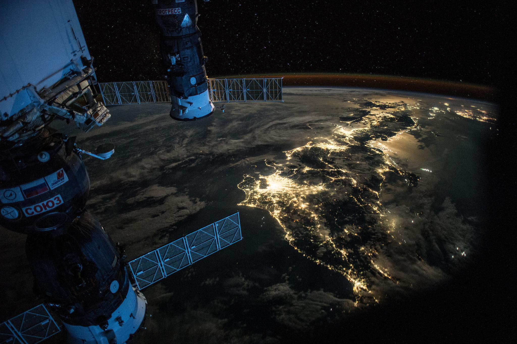 Night Earth Observation of Japan Taken by Expedition 44 Crewmember