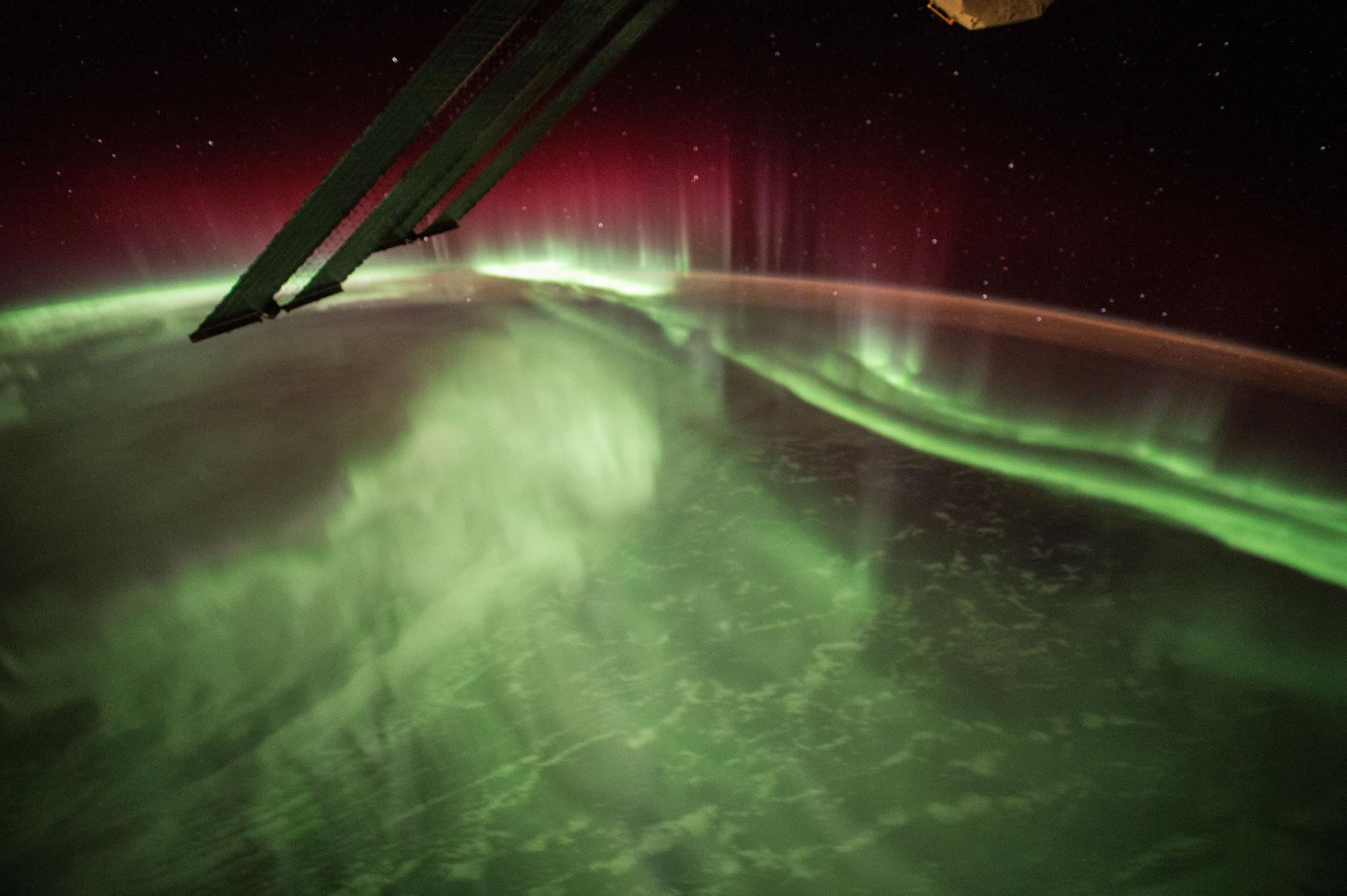 Night Earth Observation of Aurora Borealis