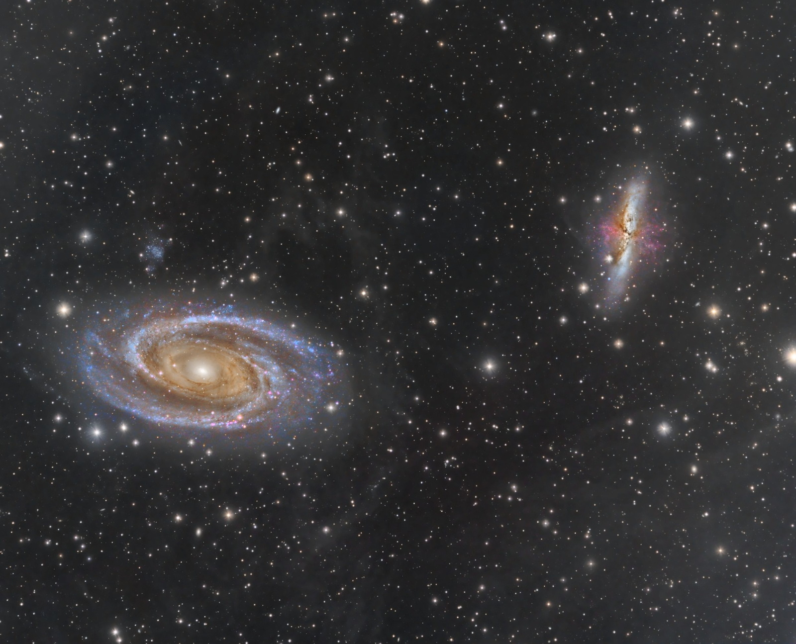M81 and M82 by Stefan Muckenhuber
