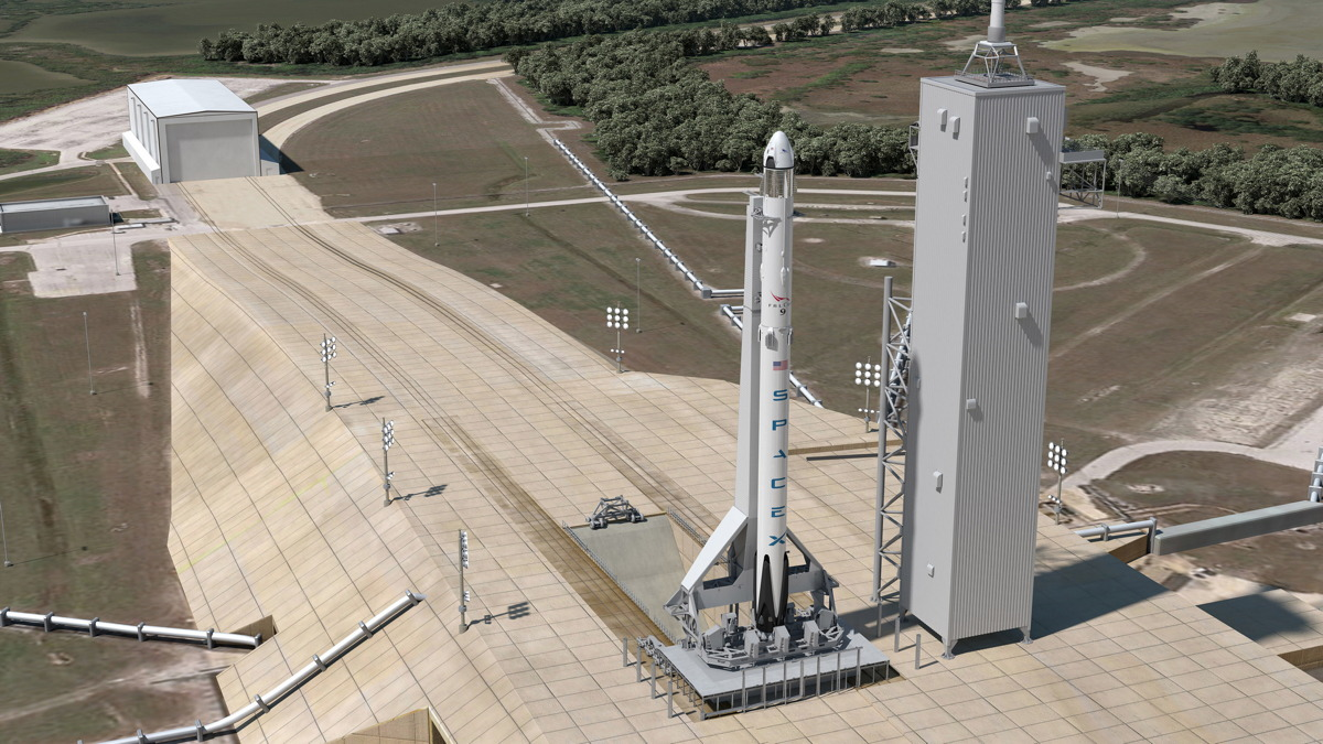 Pad 39A for Falcon 9 Launches