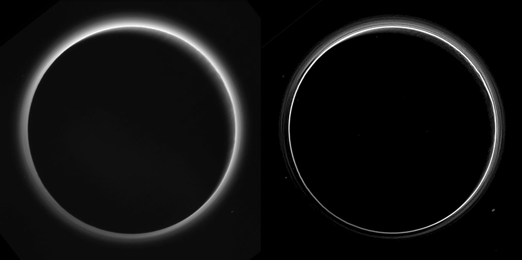 Sun Shining Through Pluto's Atmosphere