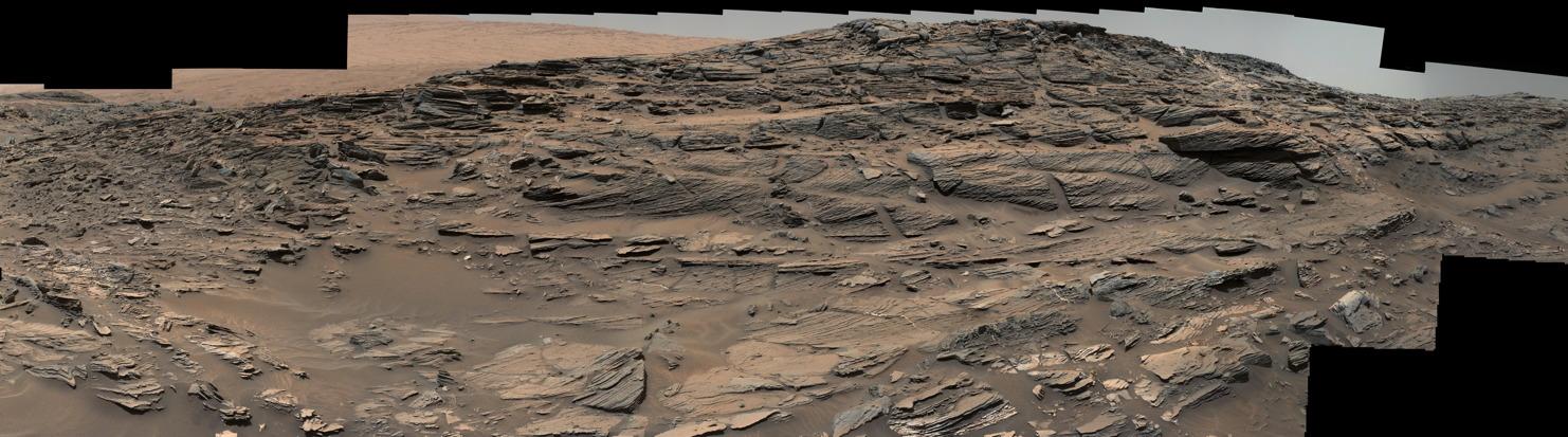 Petrified Sand Dunes on Mount Sharp