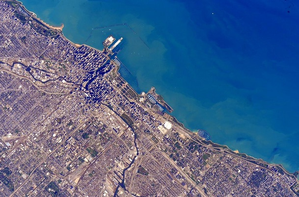 Soldier Field from ISS