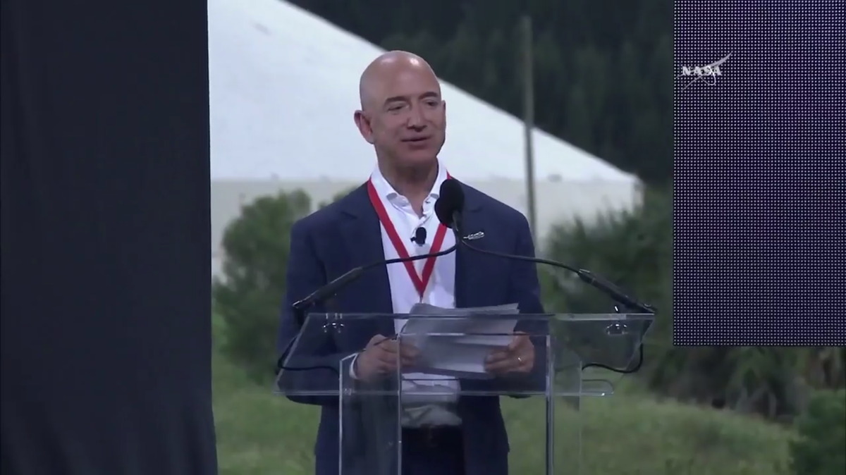 Jeff Bezos of Blue Origin