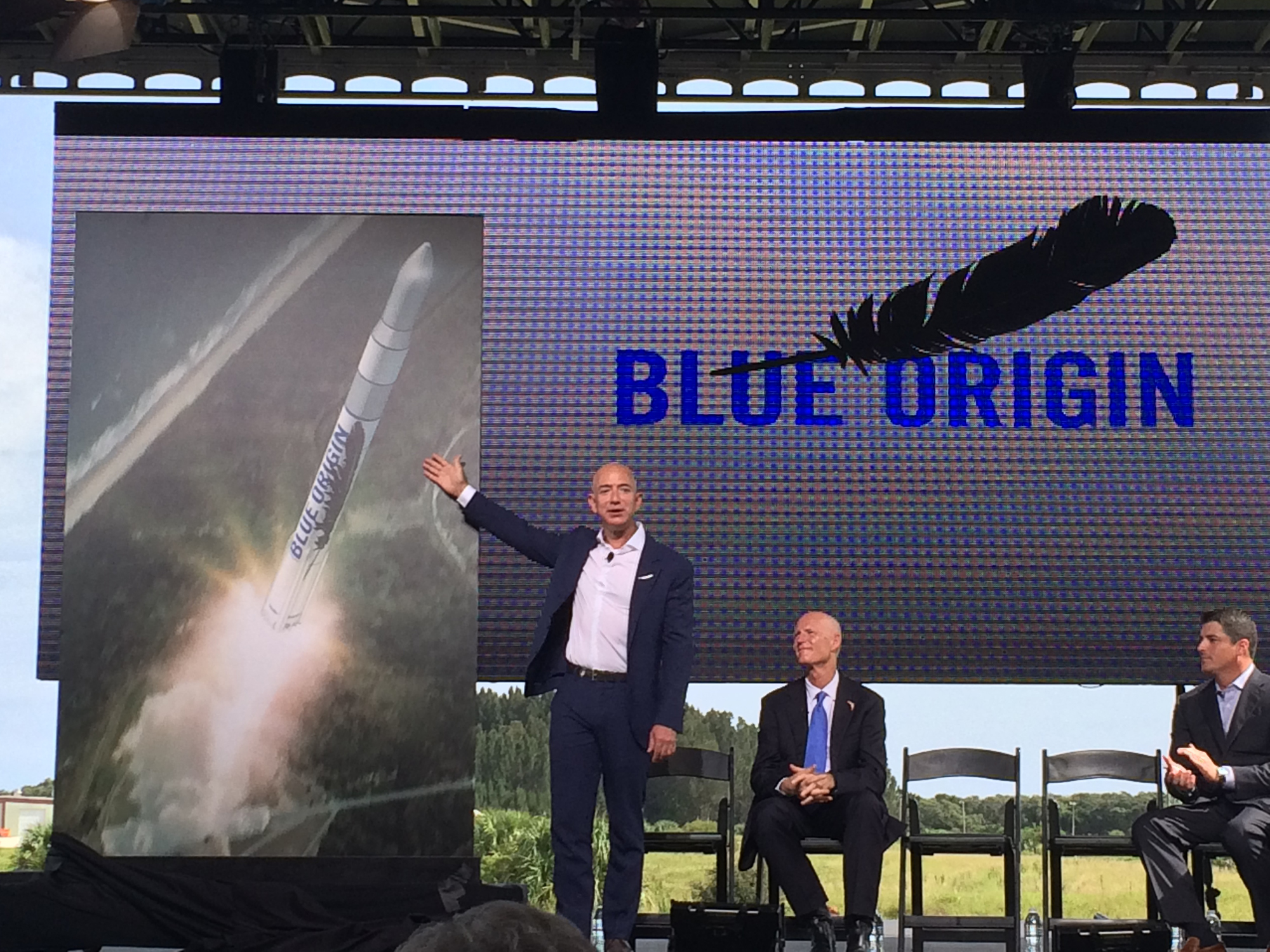 Jeff Bezos Announces Florida Launches for Blue Origin