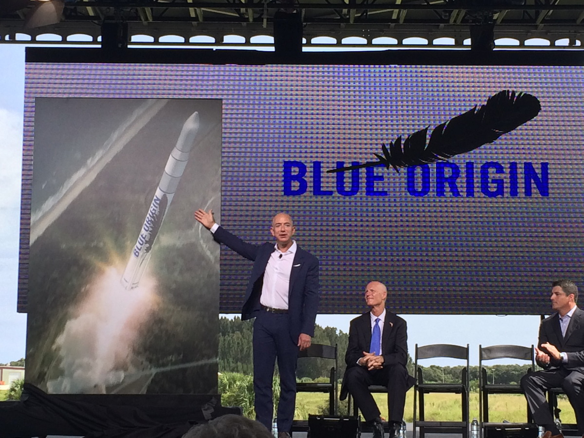 Bezos Announces New Blue Origin Facility at Cape Canaveral