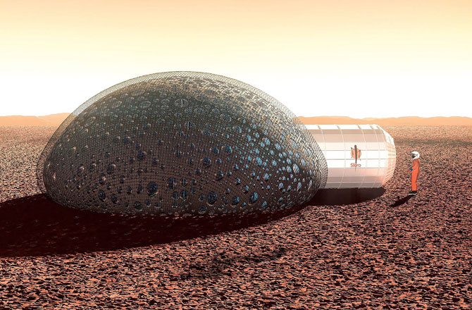3D-Printed Bubble House Made for Mars