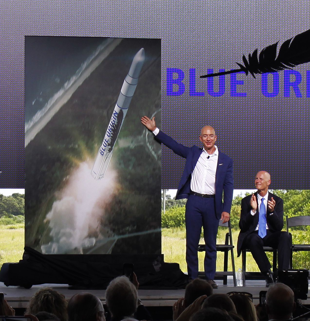 Jeff Bezos Unveils Blue Origin's Florida Launch Plans