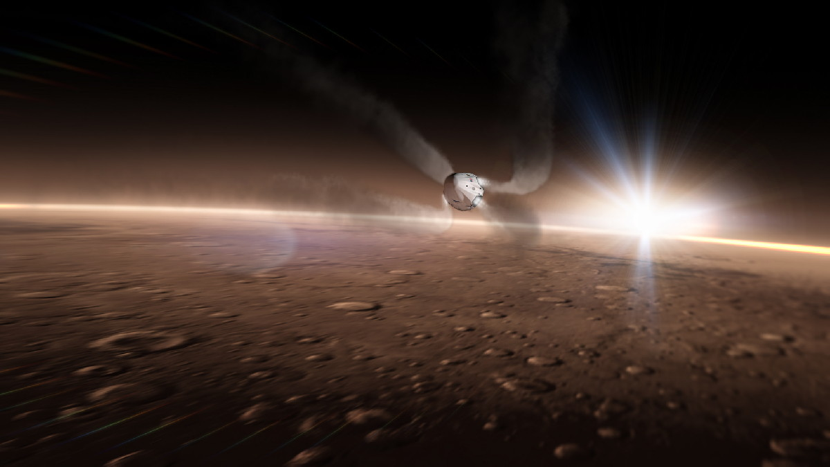SpaceX Dragon Mars Mission Concept Art #6