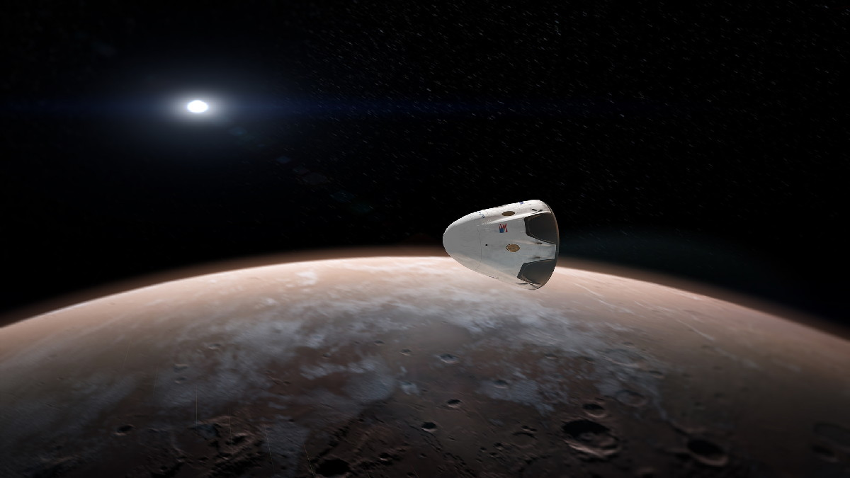 SpaceX Dragon Mars Mission Concept Art #4
