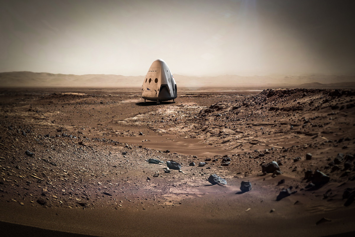 SpaceX Dragon Mars Mission Concept Art #5