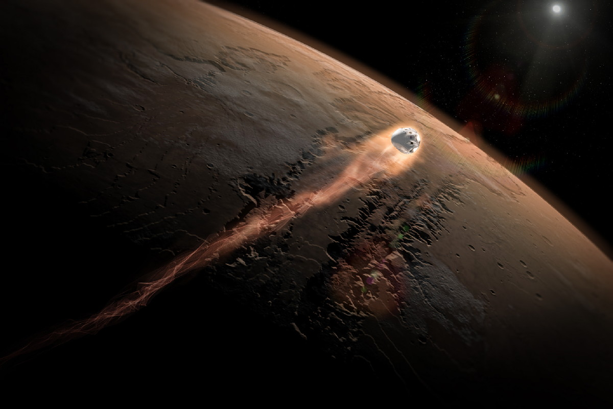 SpaceX Dragon Mars Mission Concept Art #3