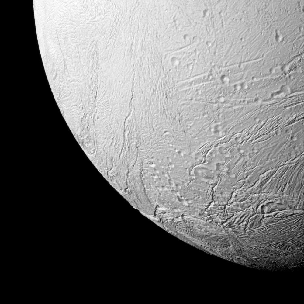 An Ocean Flows Under Saturn's Icy Moon Enceladus