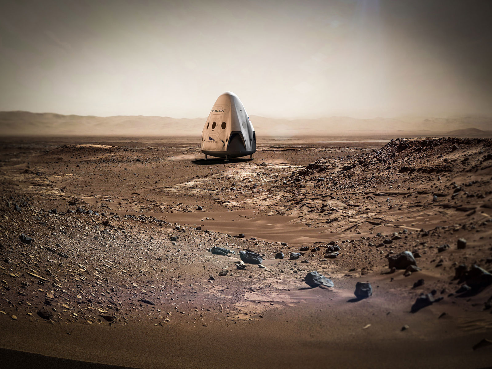 Sending Dragon to Mars | Space Wallpaper