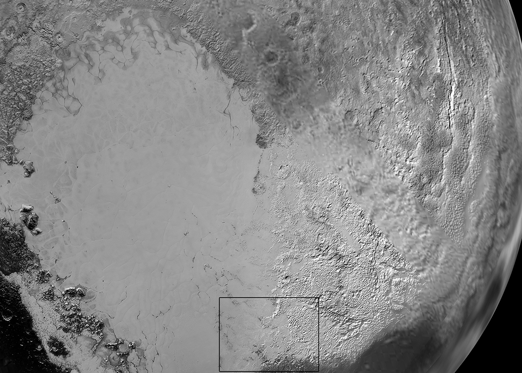Vast Ice Plains in Pluto's Heart