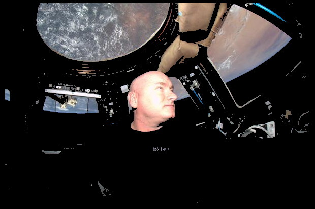 Scott Aboard the International Space Station
