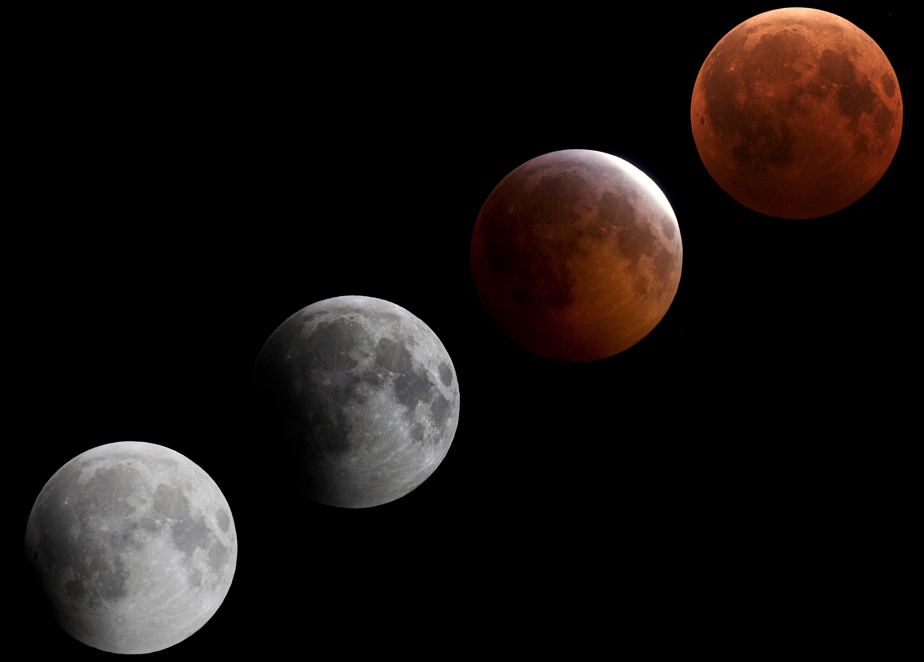 Montage of Total Lunar Eclipse
