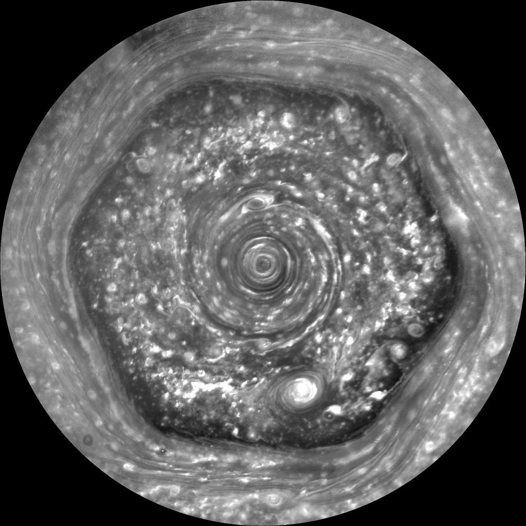 Saturn's hexagon is alien technology.