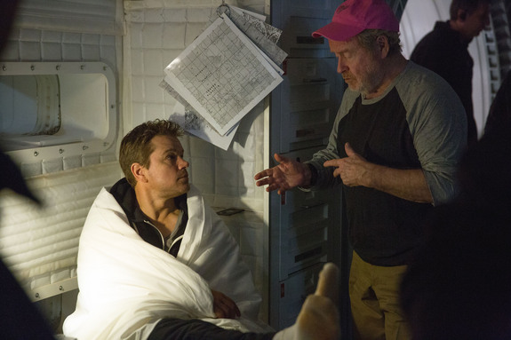 """Playing Pain, Living Loneliness:  Sir Ridley Scott directs Matt Damon through years of on-screen isolation in """"The Martian"""""""