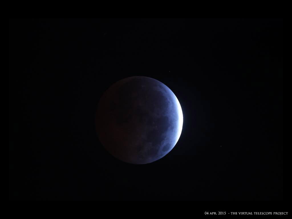 April 4, 2015, Total Lunar Eclipse by Virtual Telescope Project