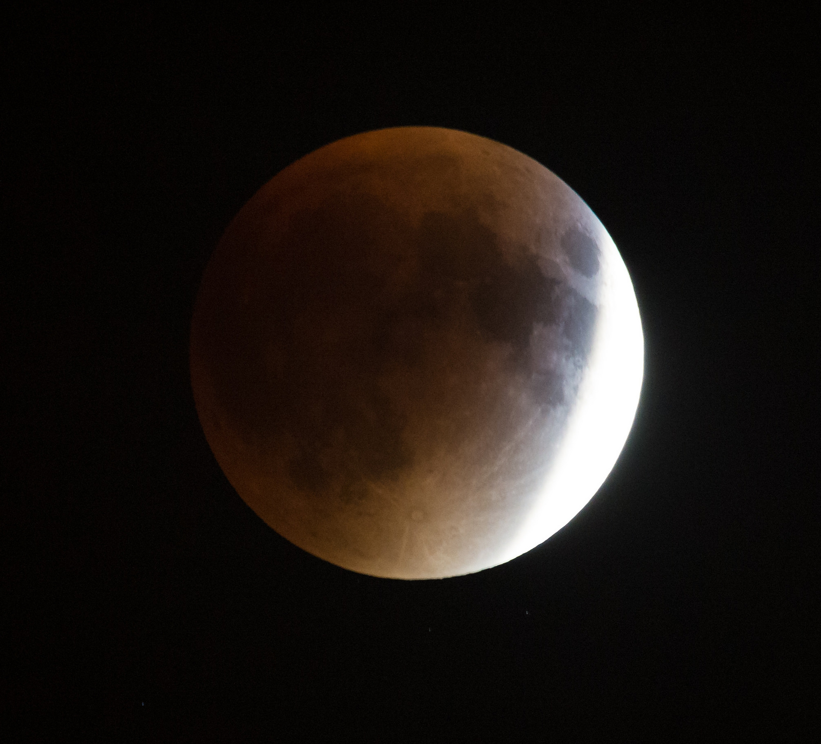 Perigee Moon Total Lunar Eclipse Over DC