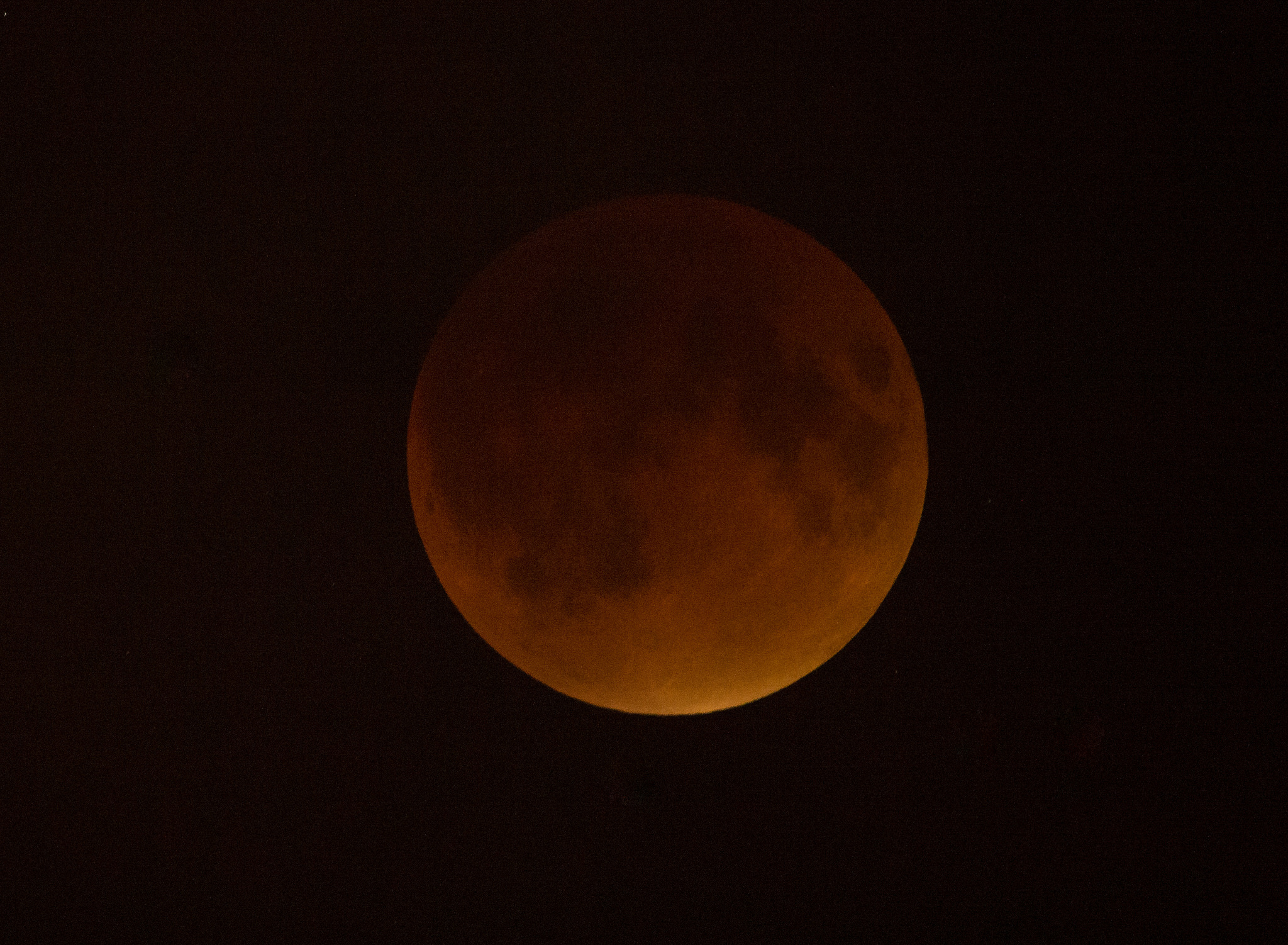 Blood Moon Lunar Eclipse Over DC