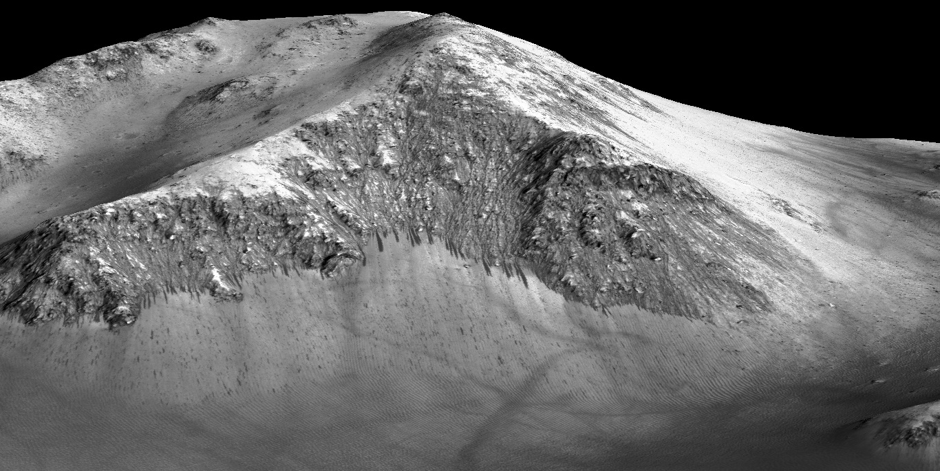 Slope Lineae at Horowitz Crater on Mars #3