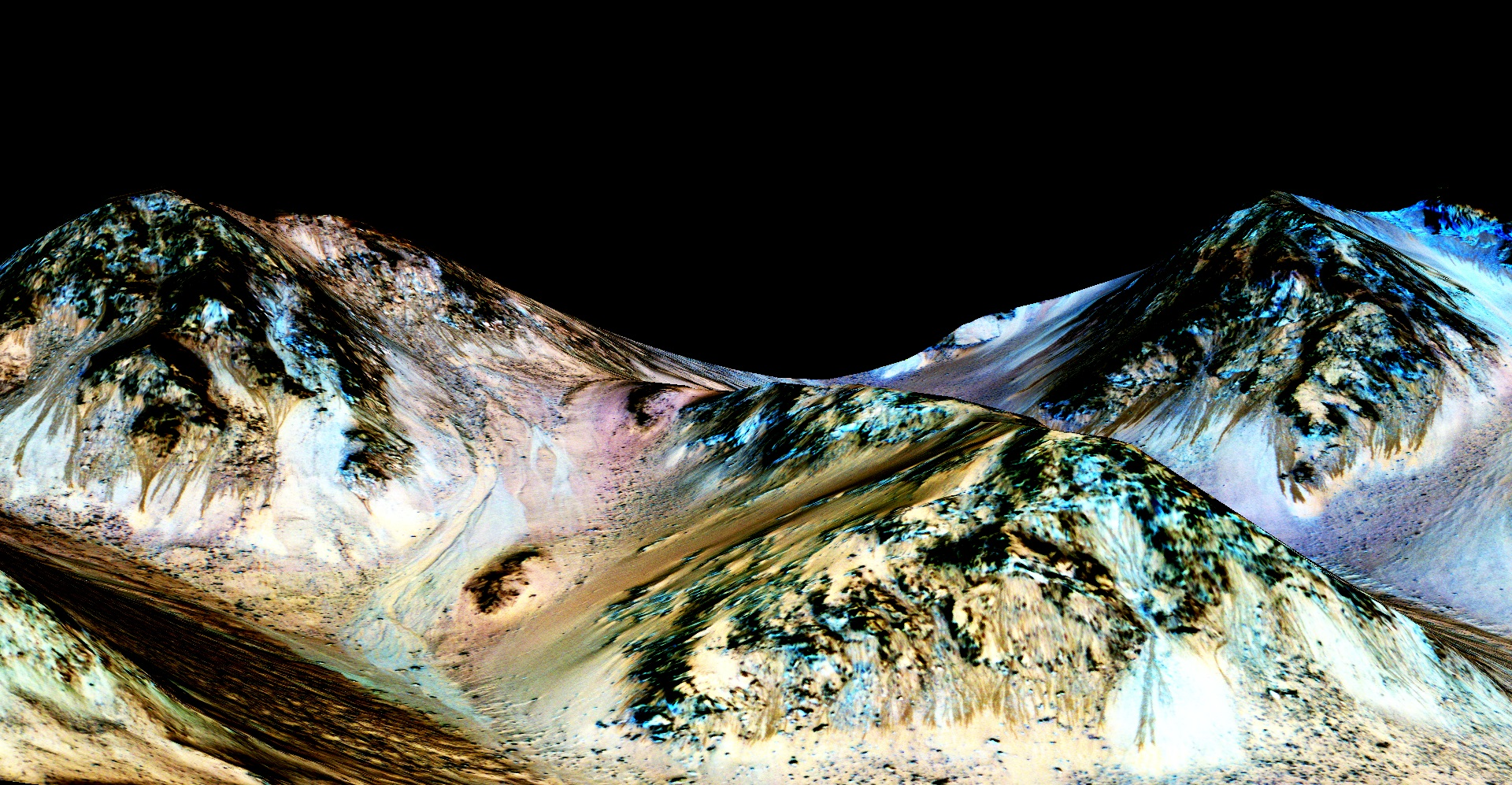 Salty Water Streaks on Mars