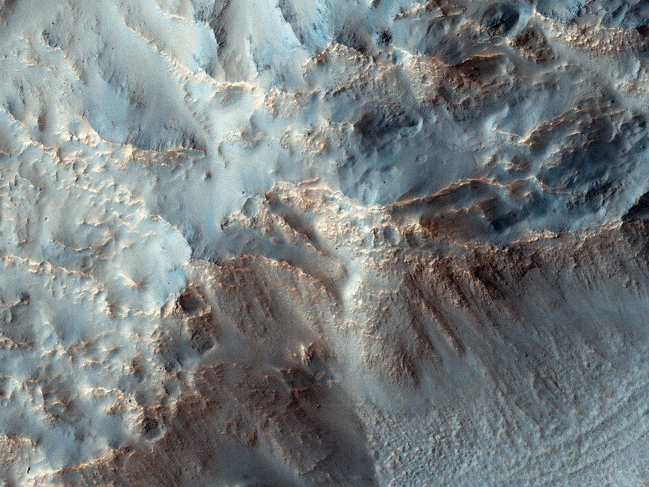 Southeast Rim of Hale Crater