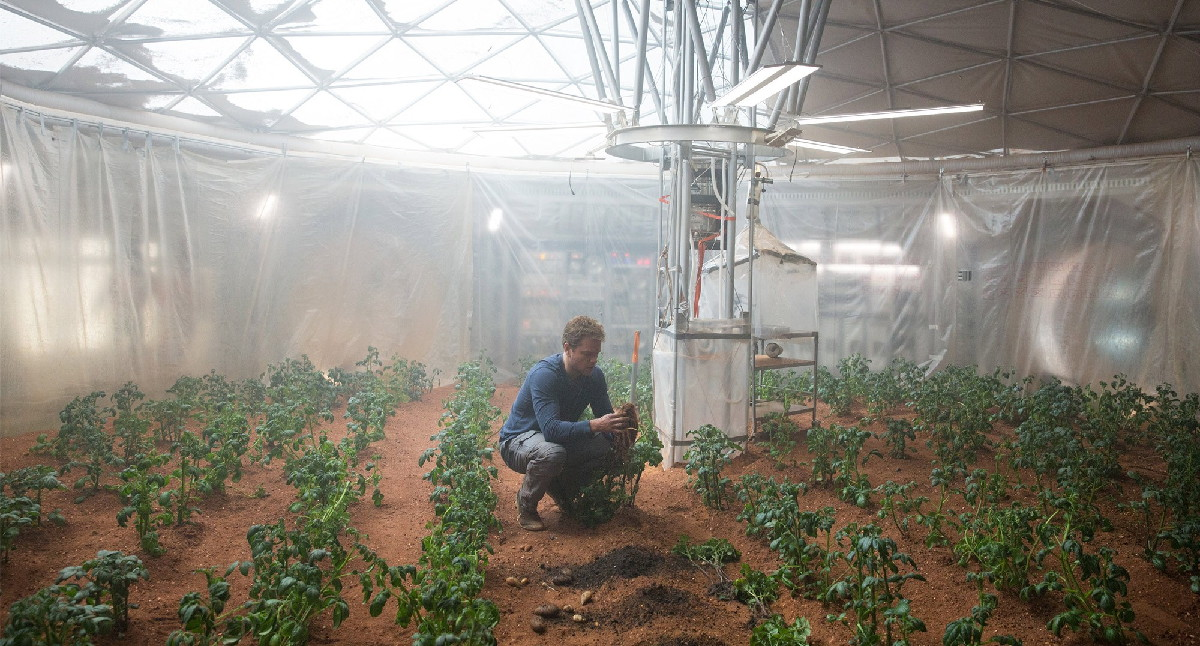 Mark Watney's Garden in 'The Martian'