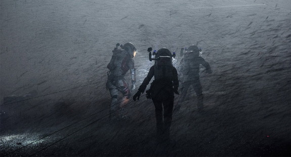 "In the movie ""The Martian,"" the astronauts must evacuate due to a storm. Mars' atmosphere wouldn't actually allow for such high winds, an inaccuracy that the screenwriter and book author tried to correct."