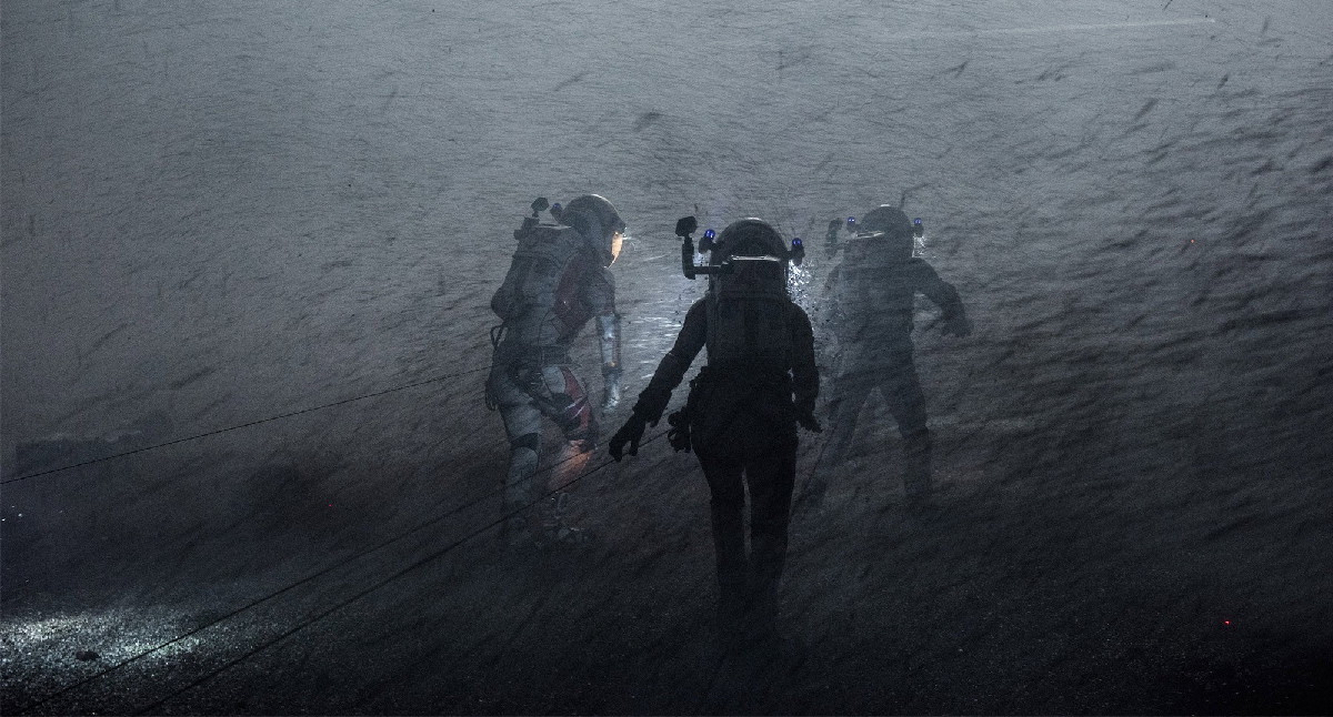 Storm on Mars in 'The Martian'