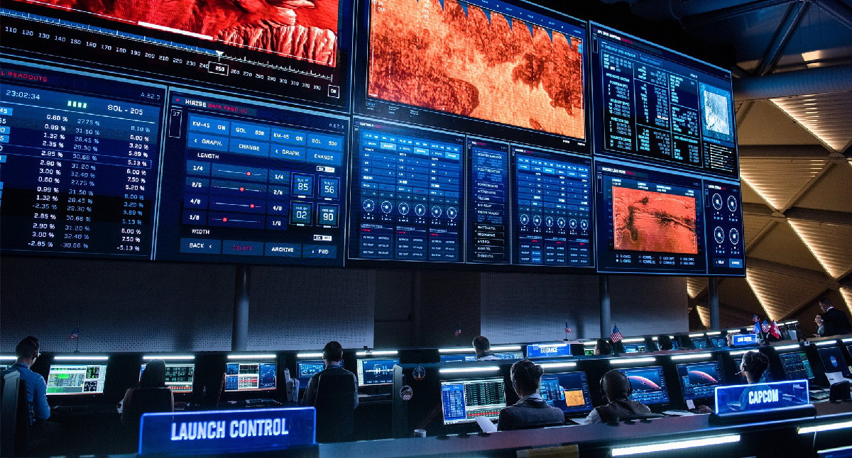 NASA's Mission Control in 'The Martian'