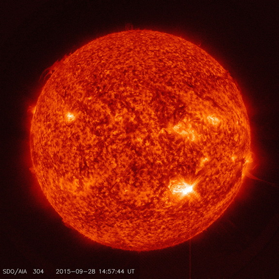 Intense Solar Flare Unleashed from Unruly Sunspot