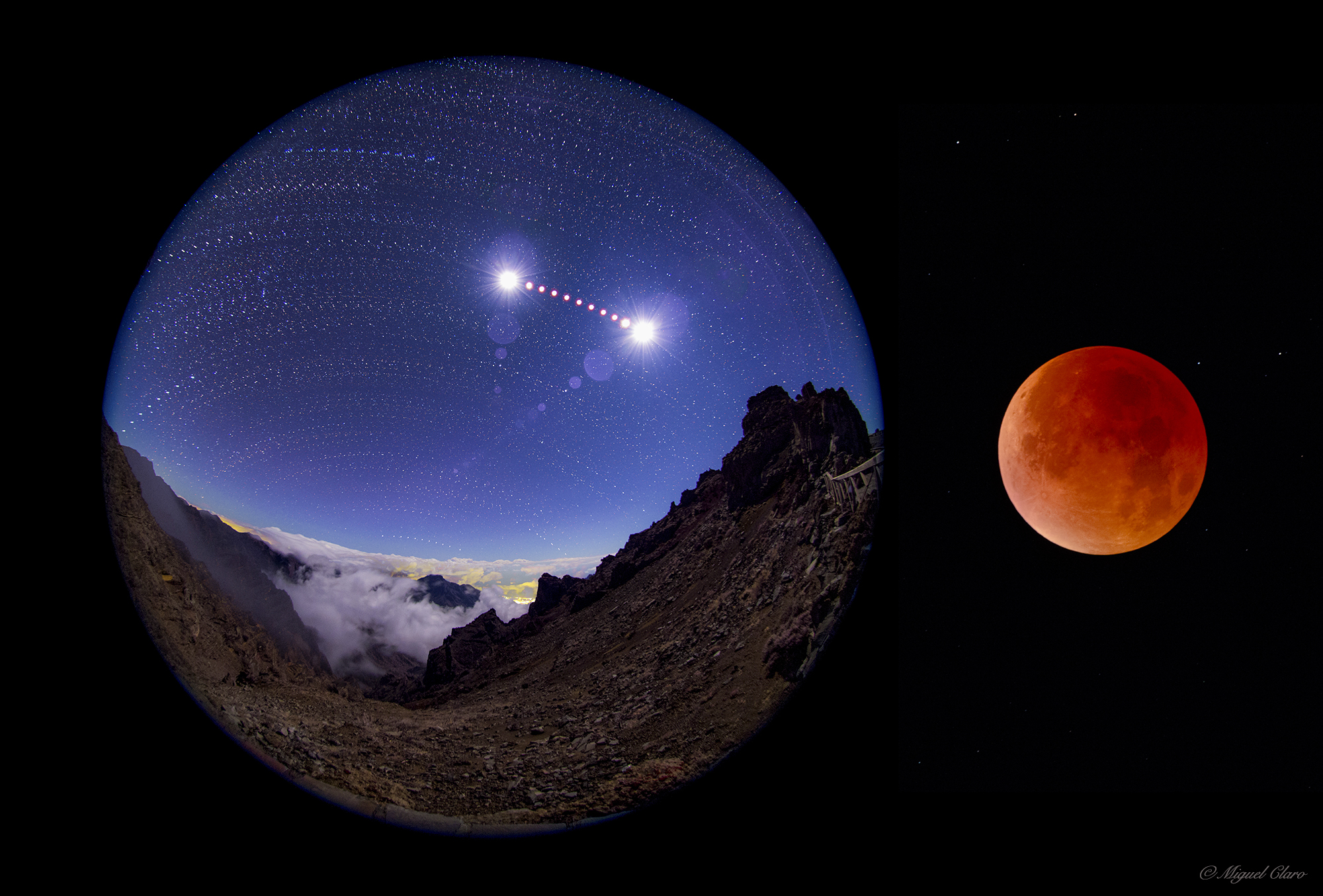 Supermoon Eclipse By Miguel Claro