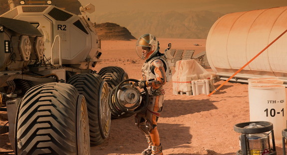 """The Martian,"" based on the novel by Andy Weir, opens across the United States on Oct. 2, 2015."