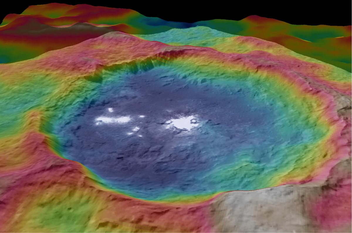 New Maps of Ceres Highlight Mysterious Bright Spots, Giant Mountain