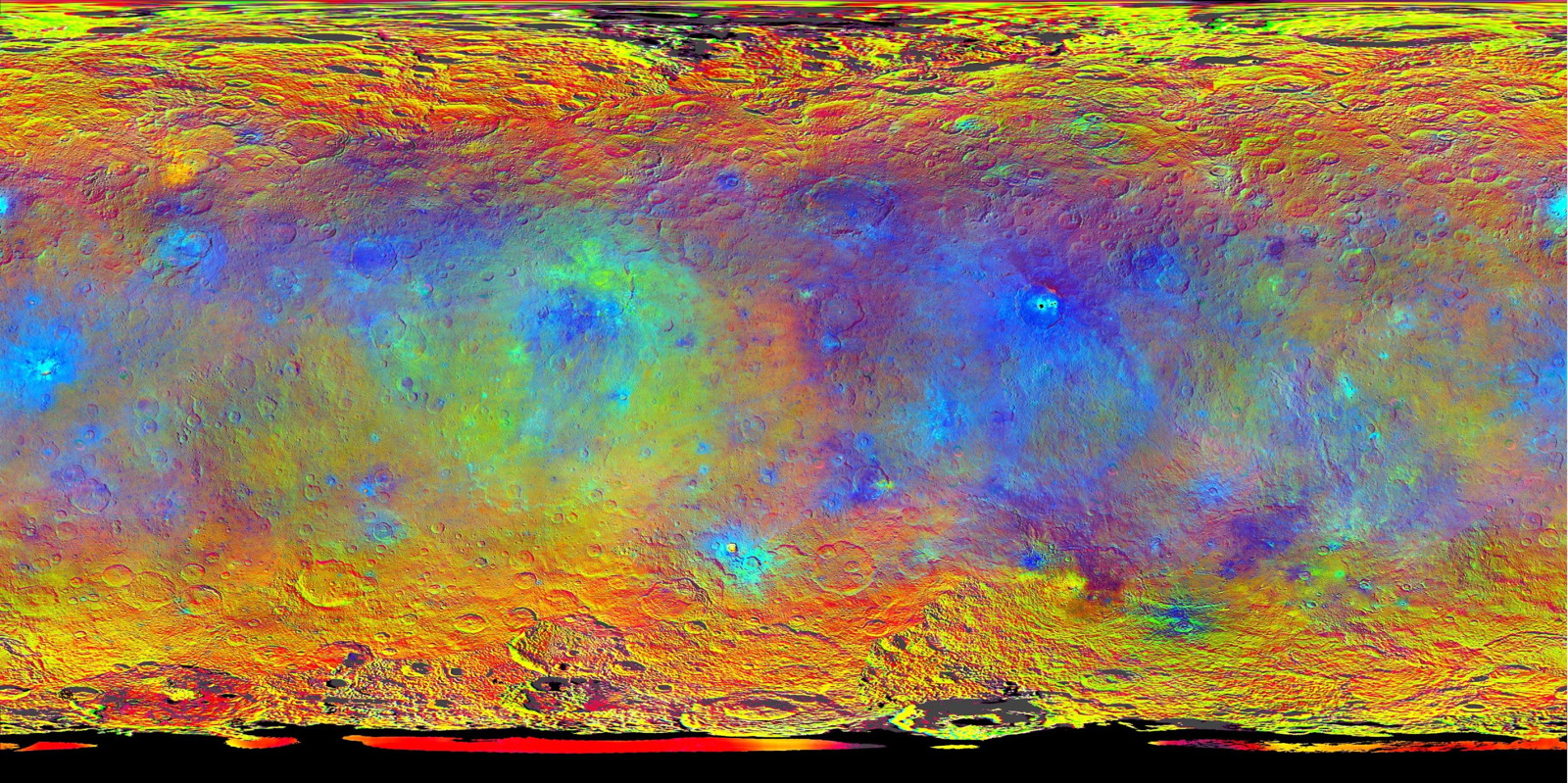 Map-Projected View of Ceres