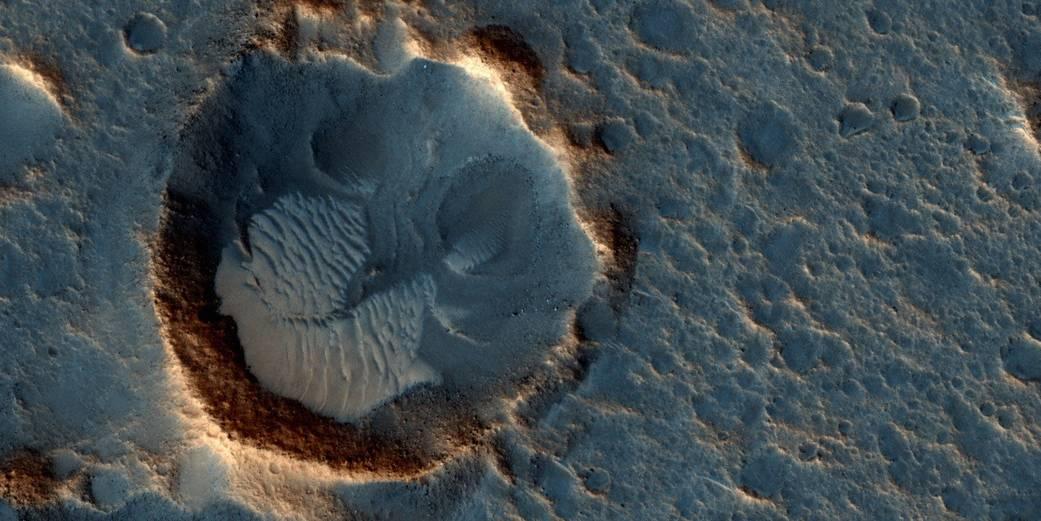 MRO Image of Acidalia Planitia, Landing Site in 'The Martian'