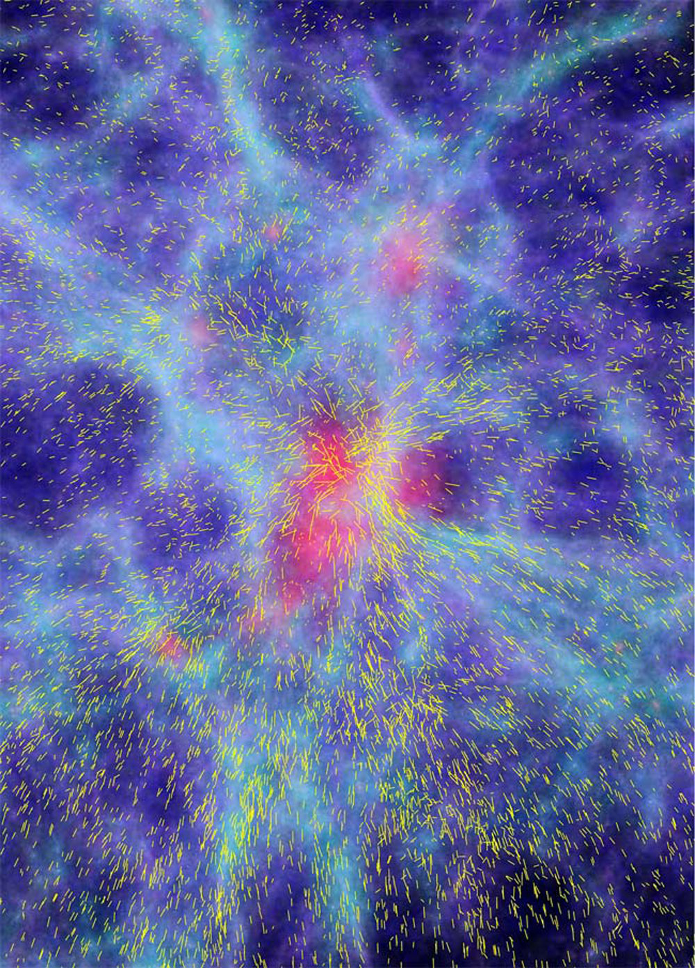 Computer simulation of the formation of large-scale structures in the universe