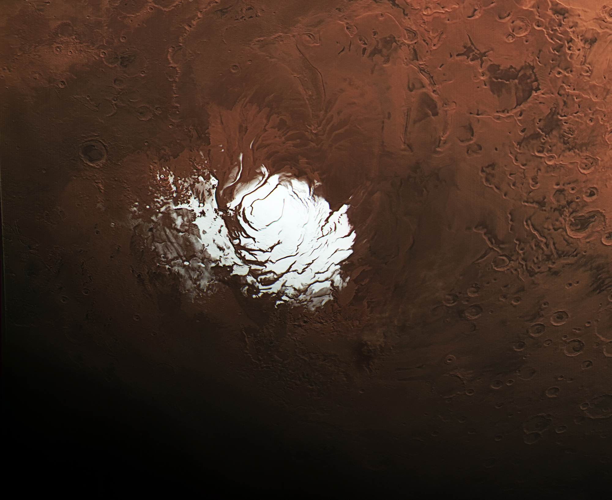 Mars' Mysterious South Pole Revealed in New Photo