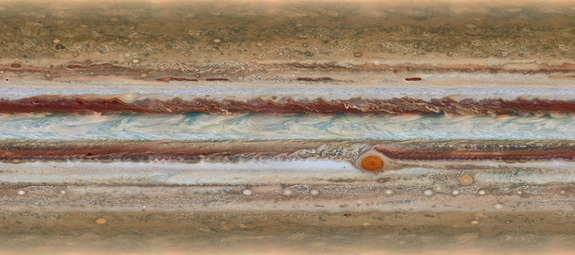 The new image of Jupiter, captured by the Hubble Space Telescope, reveals that the shrinking of the Great Red Spot is slowing, as well as identifying a rare feature.  The image, released on Oct. 13, 2015, was captured on Jan. 19.