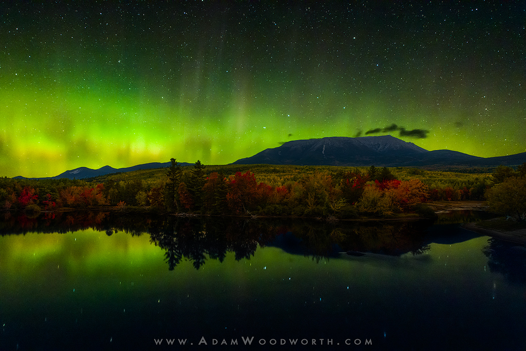 Aurora Over Mt. Katahdin, Maine