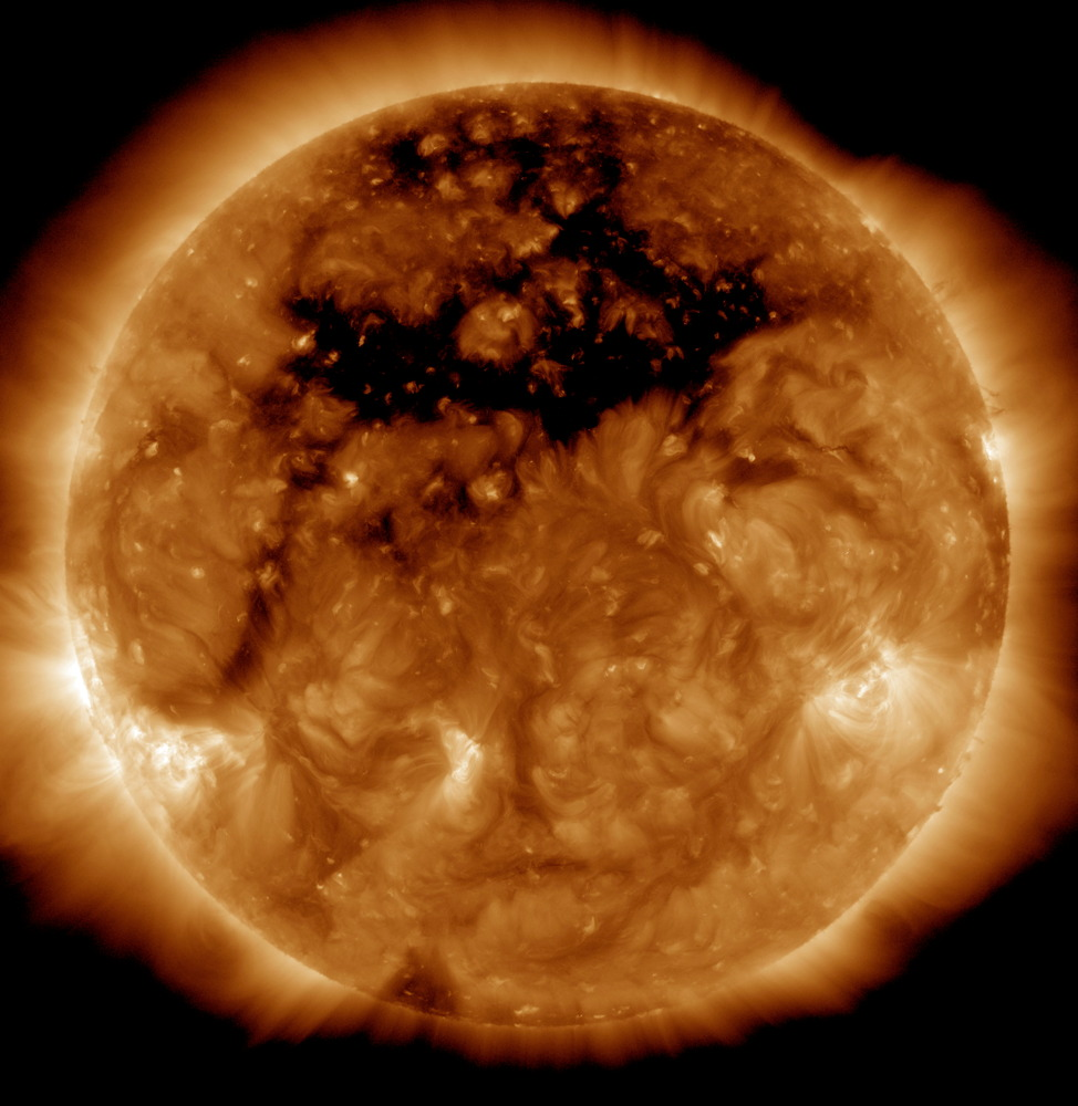 Coronal Hole on Oct. 10, 2015