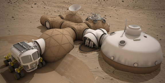 Team LavaHive was awarded third place honors for their Mars habitat design.