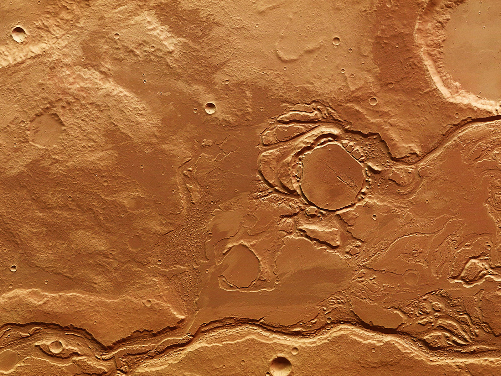 Mars' Mangala Valles | Space Wallpaper