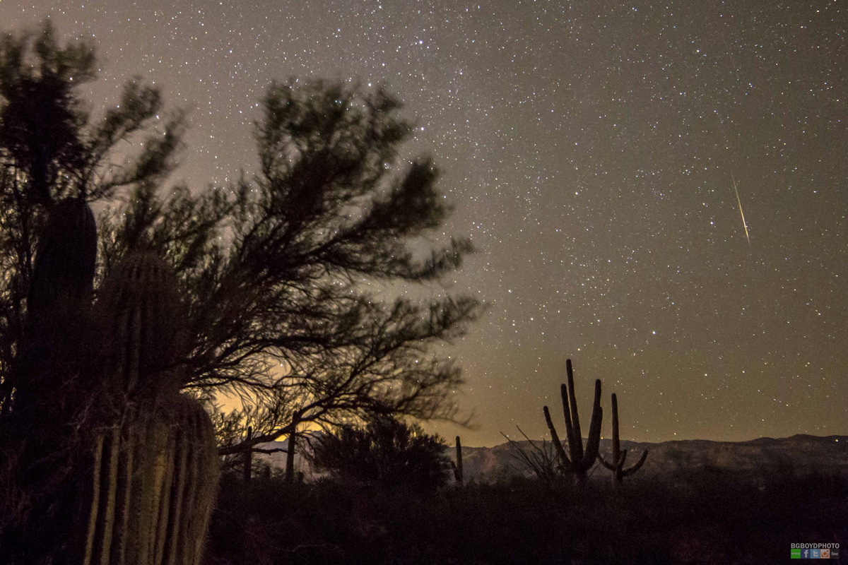 Orionid Meteor Outside Tucson 2014